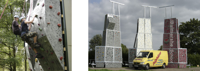highline extreme fixed and mobile climbing walls