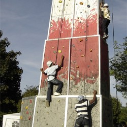 At Highline Extreme Ltd we build a unique climbing system that is tall, easy to use and great fun for all abilities